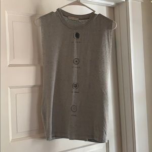 Gray Elements Muscle Cut Out Tank